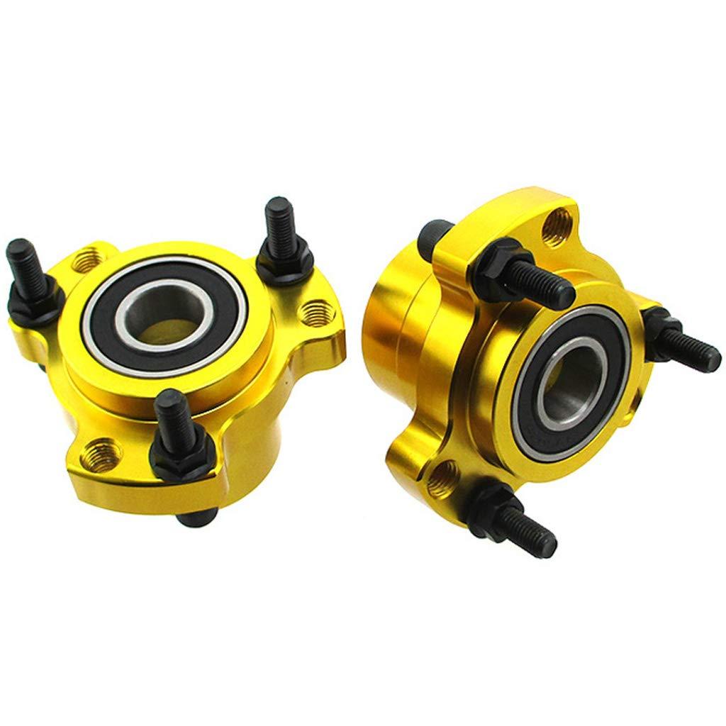 TC-Motor Set of 2 Front Wheel Hubs 5//8 Bearing 5//16 Bolts For Racing Go Kart Cart Bar Stool Blue