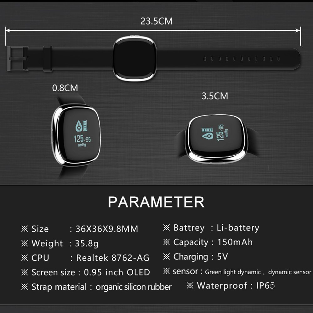 Waterproof Bluetooth Smart Watch with Blood Pressure /Heart Rate / Sleep Monitor Sports Fitness tracker Watch smart band Pedometer for IOS Android Smartphone by Tibang Fitness (Image #8)