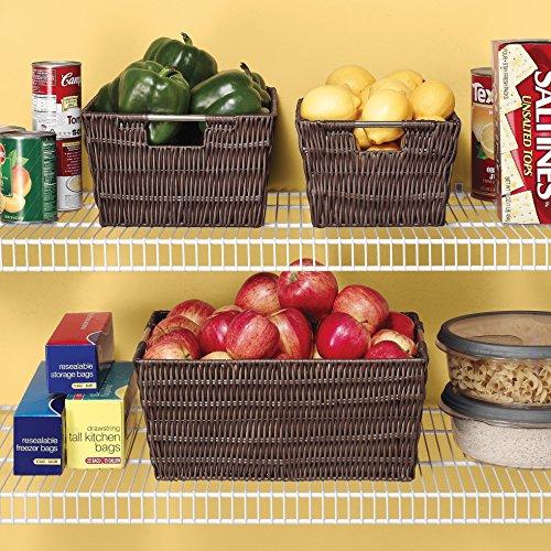 Whitmor, Rattique Storage Baskets Set of 3 Java