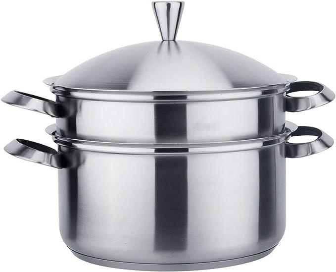 Cacerola Duradera Con La Sopa De Residuos Separación Essential Home Pot Olla De La Categoría Alimenticia De Acero Inoxidable Multifunción Vapor Pot Utensilios de cocina para la cocina de inducción