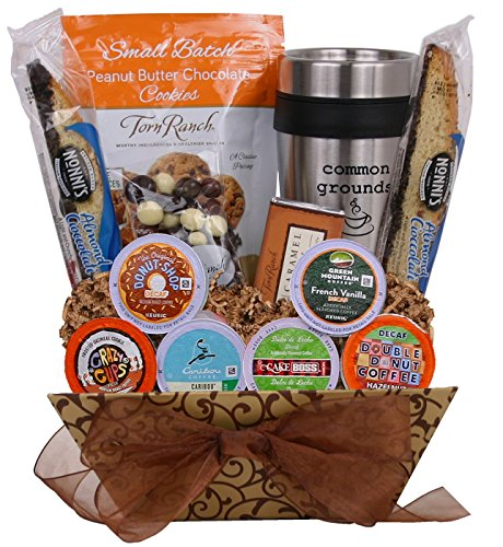 Common Grounds - DECAF K-Cup Coffee Lover's Gift Basket