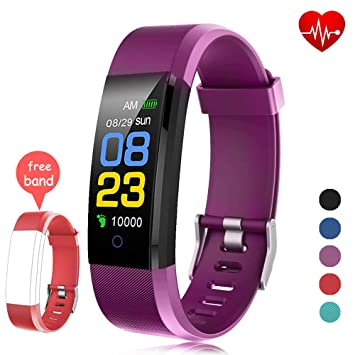 Fitness Tracker Waterproof, Activity Tracker Watch con monitor de ritmo cardíaco, banda inteligente con monitor de presión arterial, contador de ...