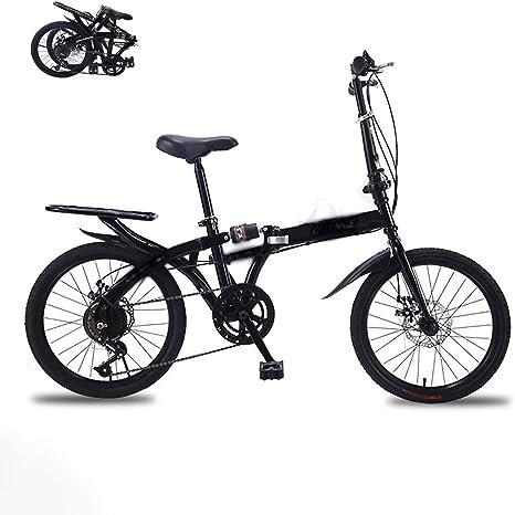 STRTG Bikes Bicicleta Plegable, Bicicleta Plegable Urbana,Unisex Adulto Urbana Plegado Bikes, 16 * 20 Pulgadas Plegable Bicicleta Folding Bike Bicicleta: Amazon.es: Deportes y aire libre