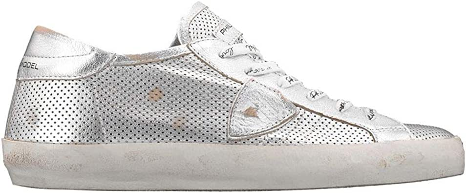 Philippe Model Luxury Fashion Womens CLLDME01 Silver Sneakers | Spring Summer 20