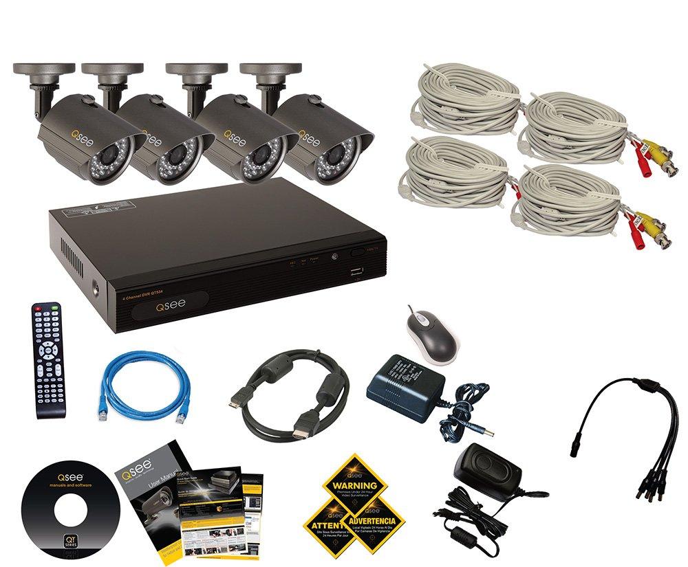Amazon.com : Q-See QT534-4E4-5 4 Channel Full D1 Surveillance System ...