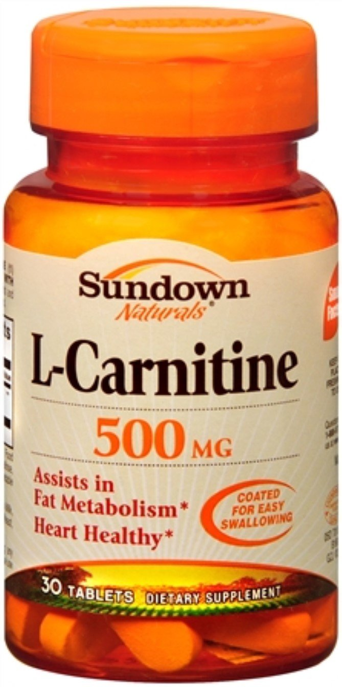 Sundown L-Carnitine 500 mg Tablets 30 Tablets (Pack of 11)
