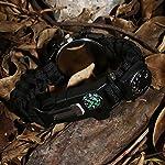 Survie paracord Bracelet de survie d'urgence, Hommes & Femmes horloge avec/Sifflet/Allume-feu/grattoir/Boussole et… 9