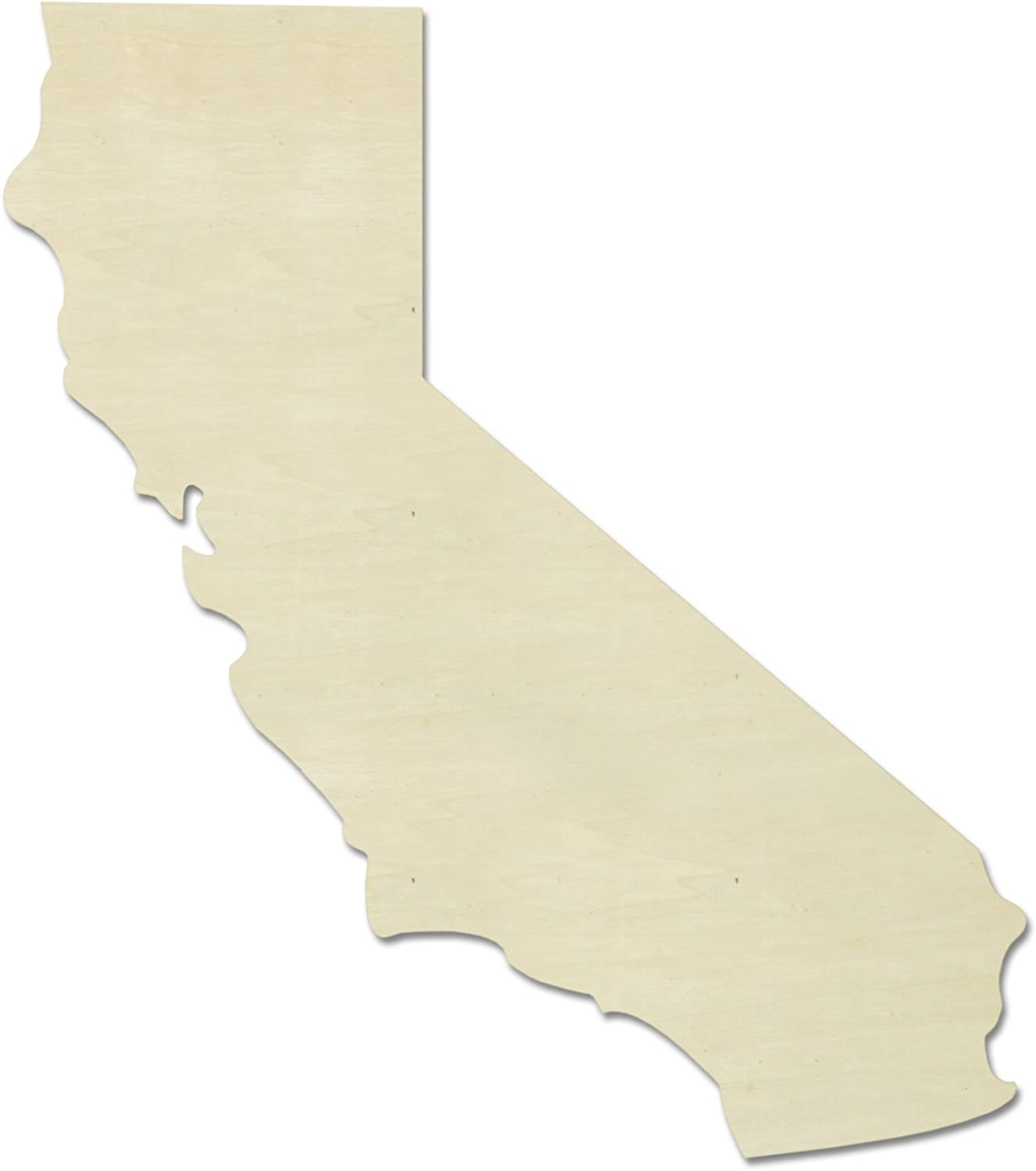 "UNFINISHEDWOODCO Unfinished State Wood Cutouts, ""California"""