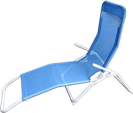 Da giardino lettino prendisole balcone lettino da giardino terrazza lettino pieghevole sedia sdraio blu