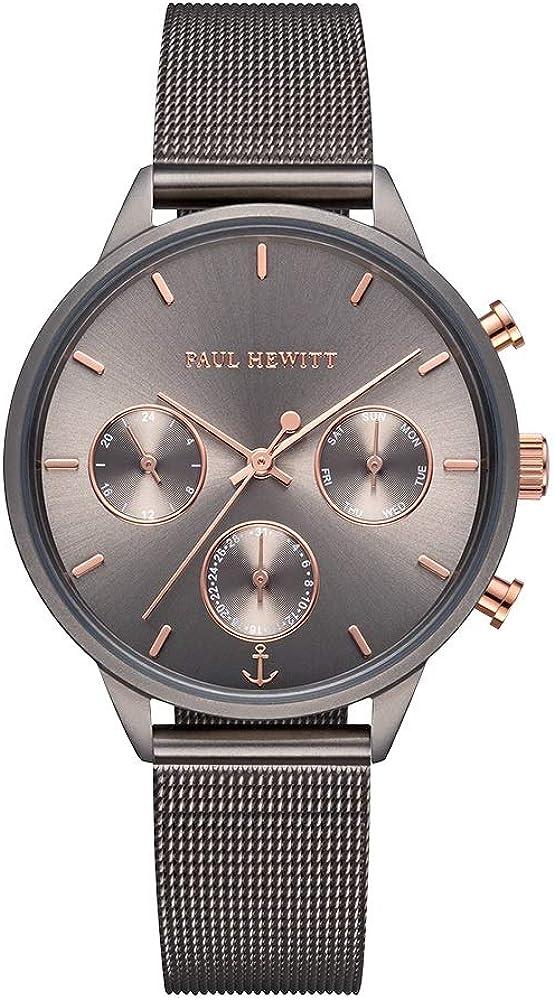 Paul Hewitt Everpulse Line - Reloj de Pulsera para Mujer (Acero Inoxidable, Correa de Piel o Correa de Acero Inoxidable)