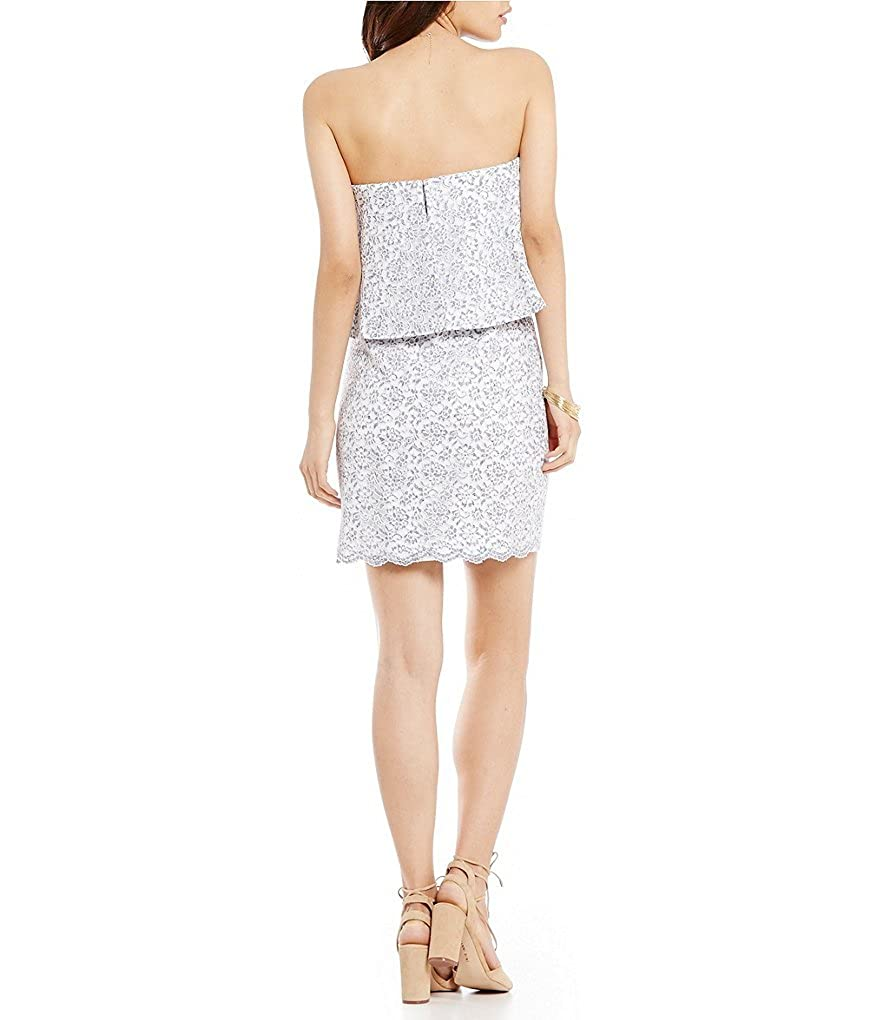 9707576ae8462 Gianni Bini Molly Strapless Popover Lace Sheath Dress Size 2 at ...
