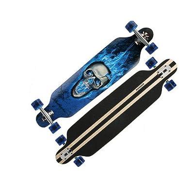 Aniseed Skateboards Longboards Drop Through Downhill/Cruiser Freeride Complete Longboard 42 Inch Black Ice Skeleton : Sports & Outdoors