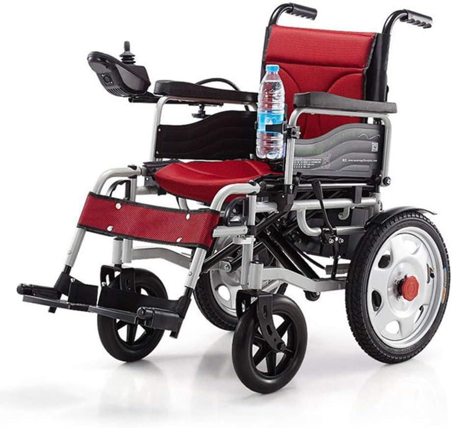 電動車椅子折りたたみ34Kg軽量、強力で耐久性のある使用、家庭や屋外での使用に便利な電動車椅子、赤