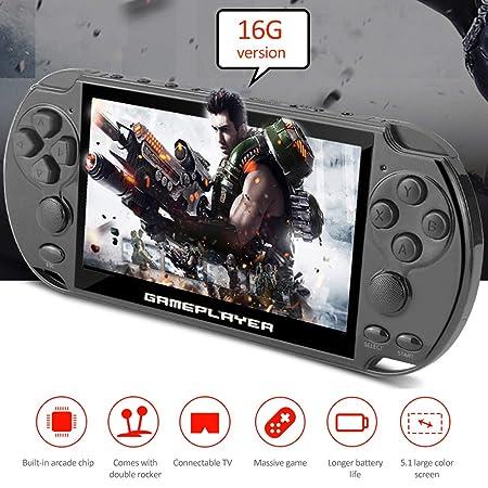 YHuHY X9/X9 Plus 8/16 GB Consola de Videojuegos portátil PSP, 5.1 ...