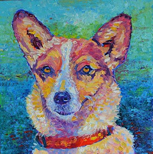 Dog Paintings Animal Wall Art Pet Portraits ORIGINAL OIL ARTWORK Hand Painted OOAK (Vegetable Portraits)