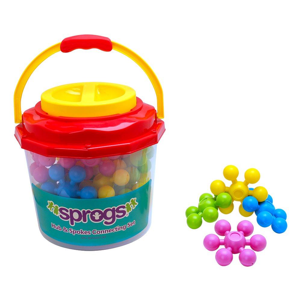 Sprogs SPG-EHA1033-SO-AZ EZ Grip Large Stars Connecting Set with Colorful Storage Container, Grade: Kindergarten to Kindergarten