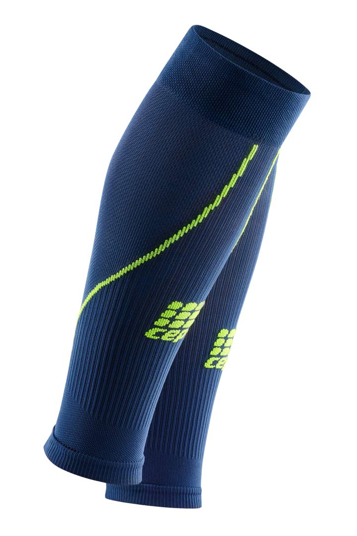 Womens Calf Compression Sleeves - CEP Running 2.0 (Deep Ocean/Green) 2 by CEP