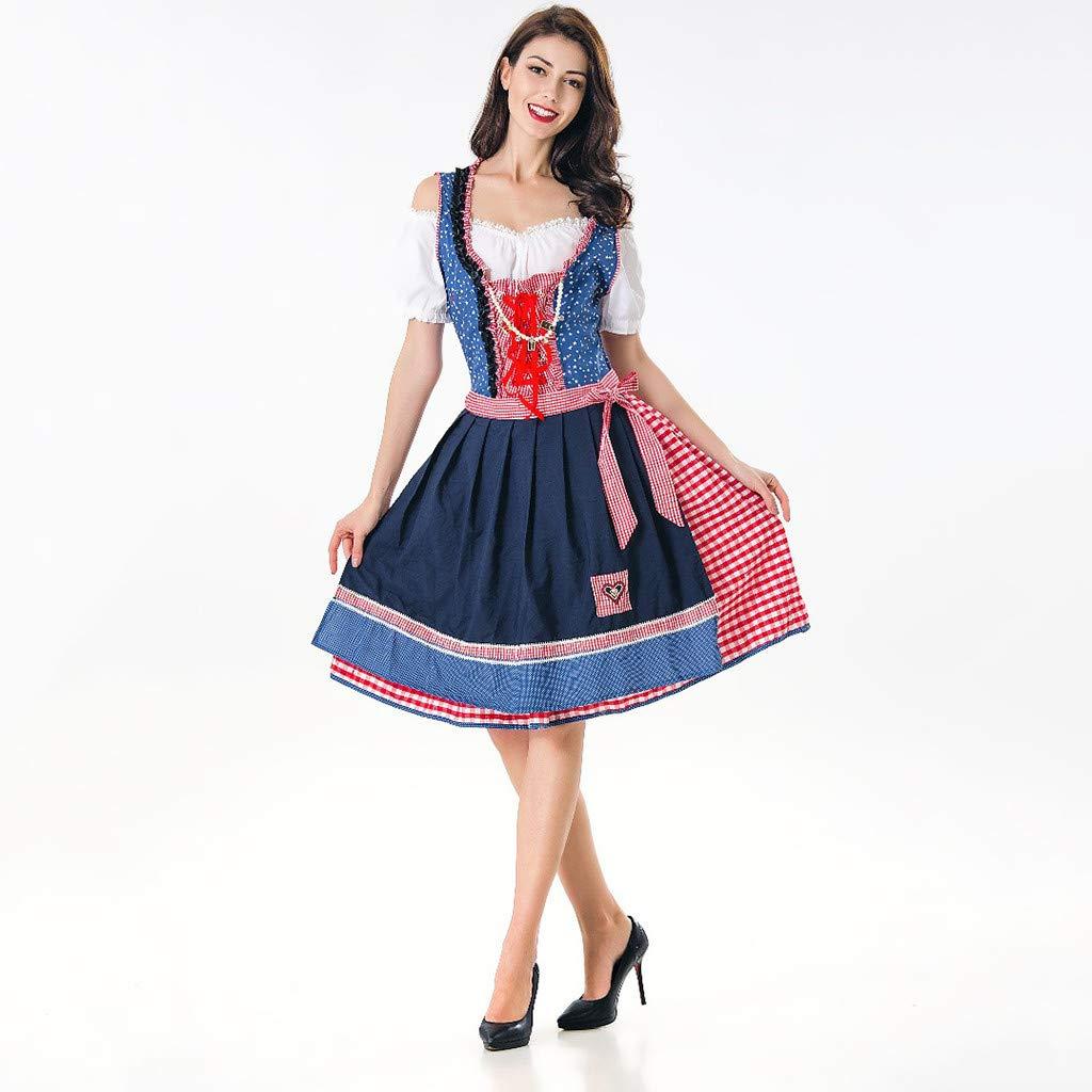 SMILEQ Vestido de Mujer Festival de la Cerveza bávara ...