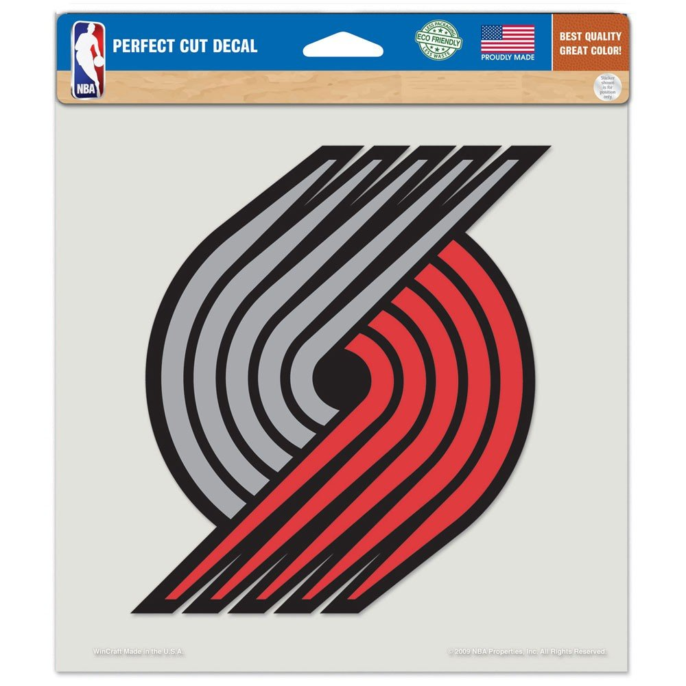NBA Portland Trail Blazers 84011010 Perfect Cut Color Decal, 8'' x 8'', Black by WinCraft