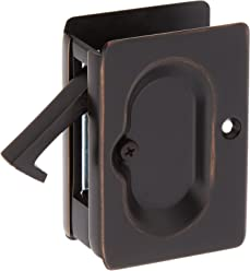Premium Quality Mid-Century Pocket Door Passage Set In Oil-Rubbed Bronze