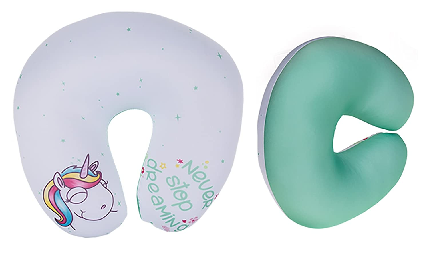 Unicorn Novelty Neck Cushion / Travel Pillow (Pink A)