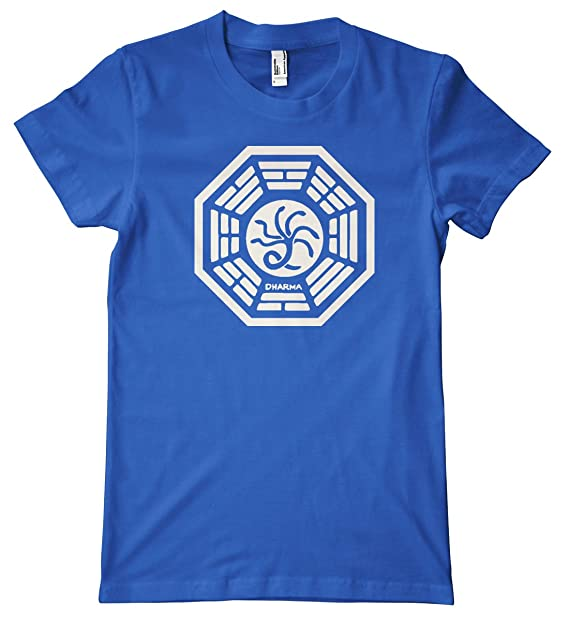 HiveTees Dharma Hydra Logo Camiseta Azul Azul Real XX-Large  Amazon.es   Ropa y accesorios ee2ac4edd87