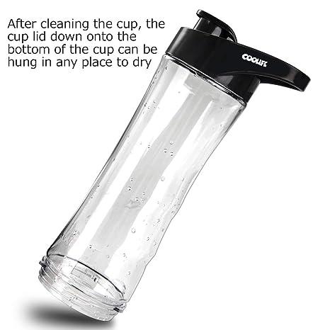Botella de Agua, Coolife 570ml Botella Sin BPA con Prueba de Fugas y Ecológico Plástico Tritan para Correr, Camping, Ciclismo, al Aire Libre y Oficina: ...