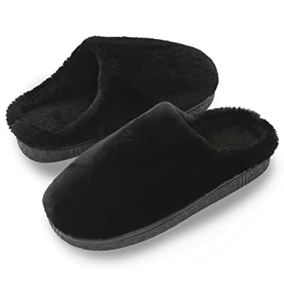 HOMOSEAL Women's Slippers Washable Closed Toe Ultra Lightweight Cotton Indoor Slipper (S, Black) | Slippers