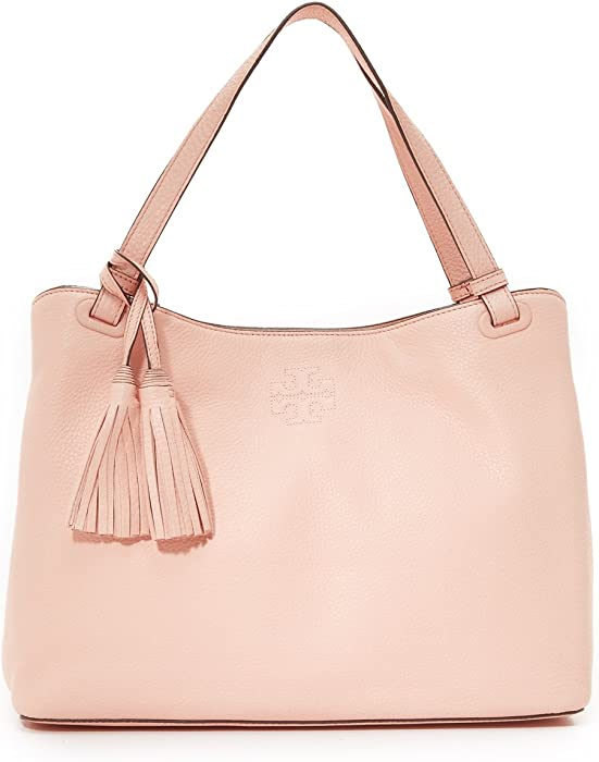 446dabb42f10 Amazon.com  Tory Burch Thea Center-Zip Tote Sweet Melon  Clothing