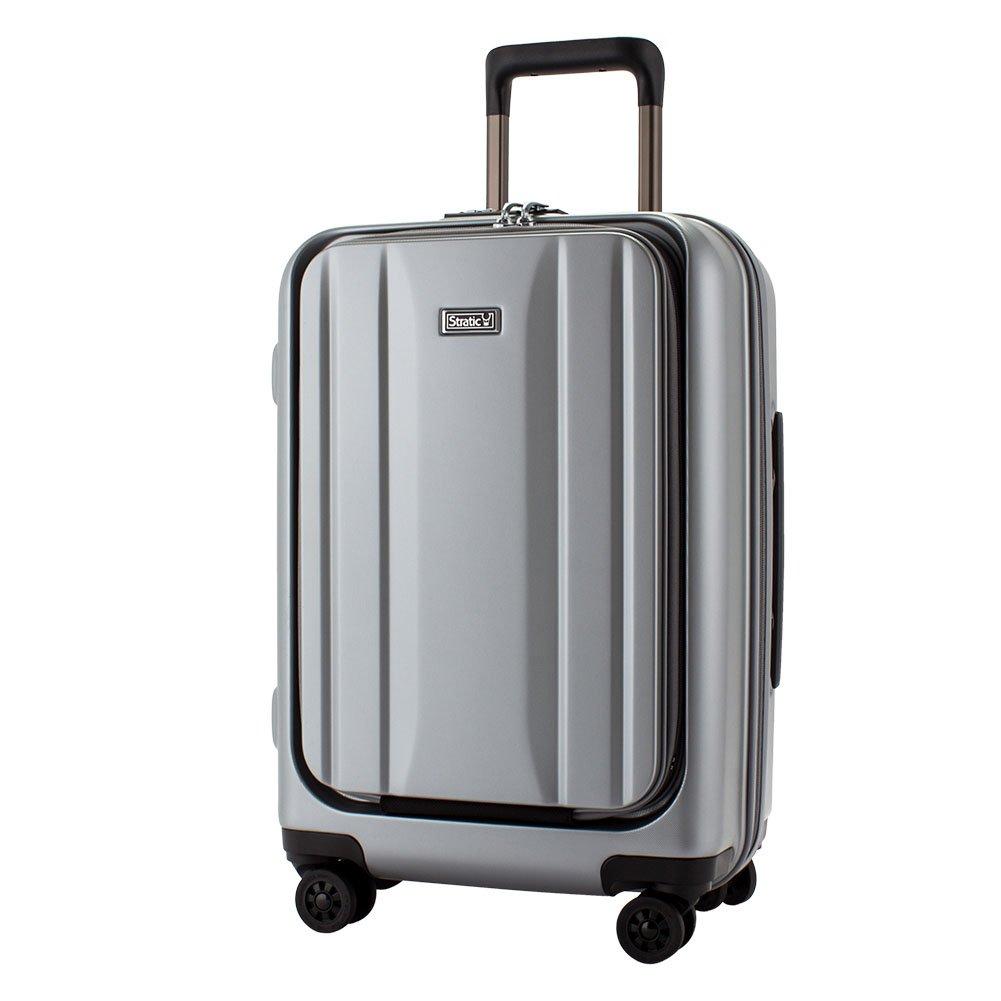 [ ストラティック ] Stratic スーツケース 機内持ち込み Sサイズ 30L 軽量 4輪 小型 ハード フロントオープン 頑丈 TSAロック キャリーバッグ ドイツ [並行輸入品]  シルバー B07CK2ZDKN