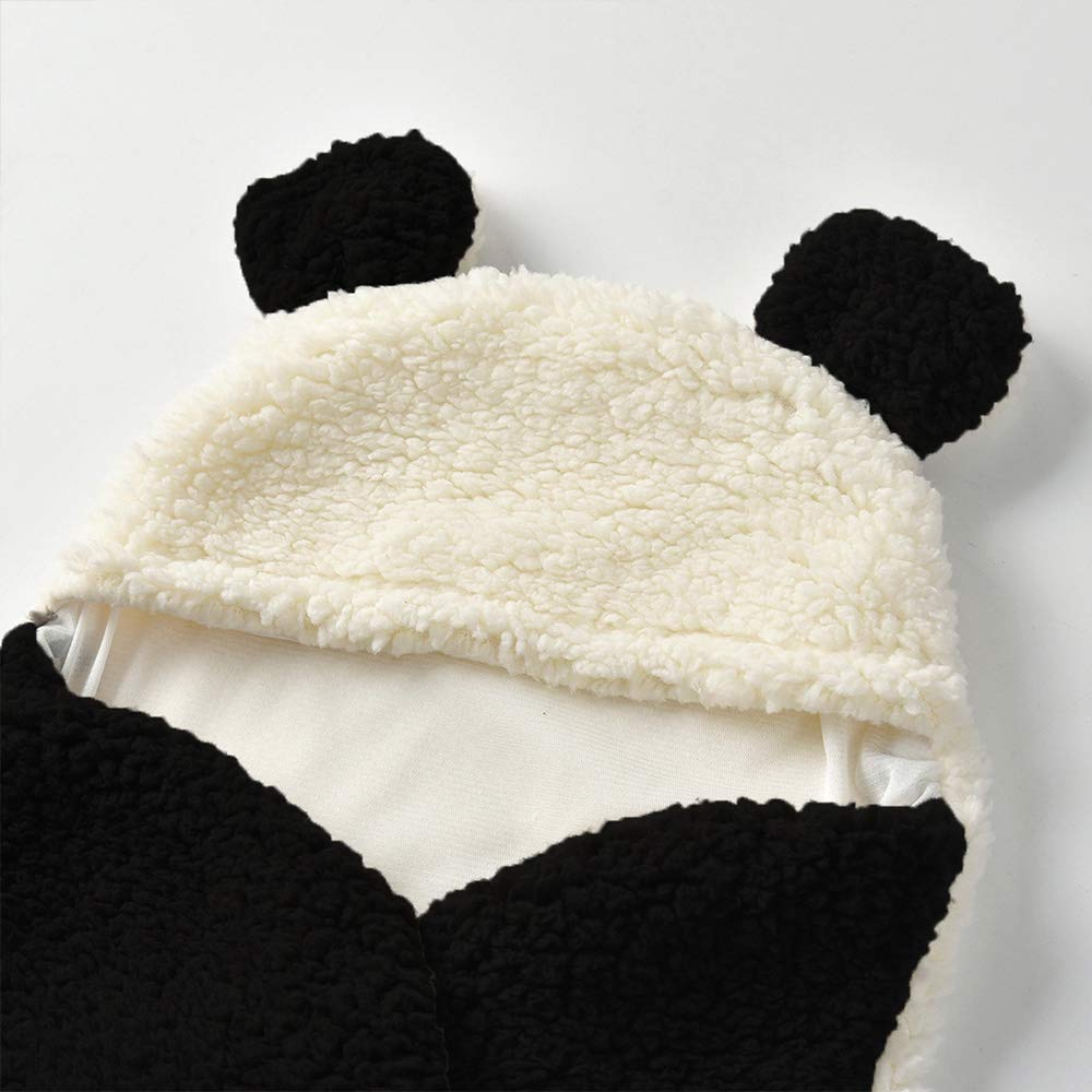 Beher Wearable Blankets Swaddling Newborn Baby Wrap Swaddle Blanket Panda Baby Kids Toddler Blanket Sleeping Bag Sack Sleep Bag Stroller Wrap for 0-12 Month Baby