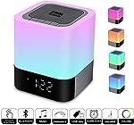 WamGra Night Light Bluetooth Speaker, Alarm Clock Bluetooth Speaker MP3 Music