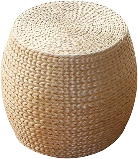 Handmade Rattan Stool Round Footstool, Creative Fashion Coffee Table Stool Home Sofa Stool, Suitable for Living Room, Bedroom Multiple Size Optional