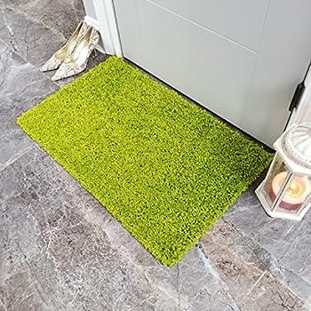 Amazon Com Shag Door Mat Plain Solid Green Shag Doormat