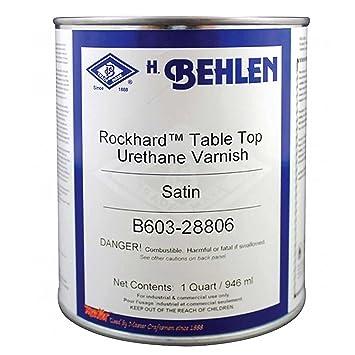 Behlen Rockhard Table Top Urethane Varnish Satin, Quart