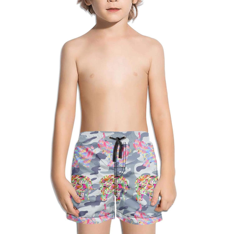 Landayboys Boys Summer Swim Trunks Beach Shorts Colorful Painting Skull Quick Dry Swim Trunks
