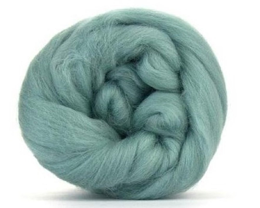 4oz Paradise Fibers 64 Count Dyed Teal (Green) Merino Top Spinning Fiber Luxuriously Soft Wool Top Roving for Spinning with Spindle or Wheel, Felting, Blending and Weaving