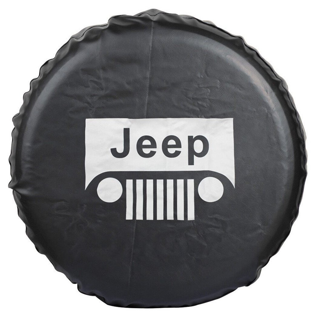 Jucarvo PVC Jeep RV Liberty Wrangler Housse de pneu de roue de secours pour Jeep R15 (70CM-75CM) Spare Wheel Tire Protector Cover Auto-CAR-T33