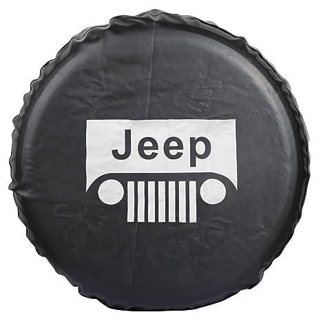 Jucarvo PVC Jeep RV Liberty Wrangler cubierta de neumáticos de rueda de repuesto para Jeep R16