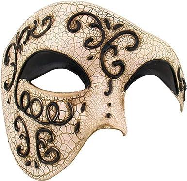 Black Matte Classic Style Venetian Mask Masquerade Burlesque Ball Party