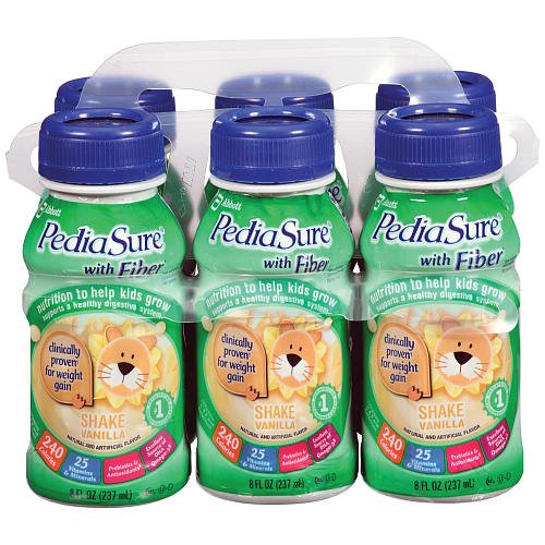 Pediasure Vanilla Fiber Drink 6pack 8 Ounce
