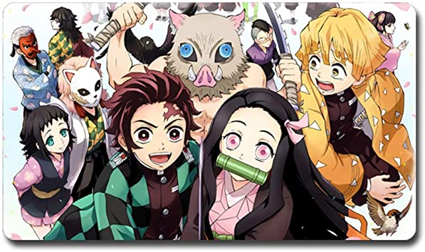 Amazon Com Bowinr Demon Slayer Kimetsu No Yaiba Gaming Mouse Pad 28 X12 Extended Non Slip Rubber Mouse Mat For Laptop Computer Style 07 Office Products