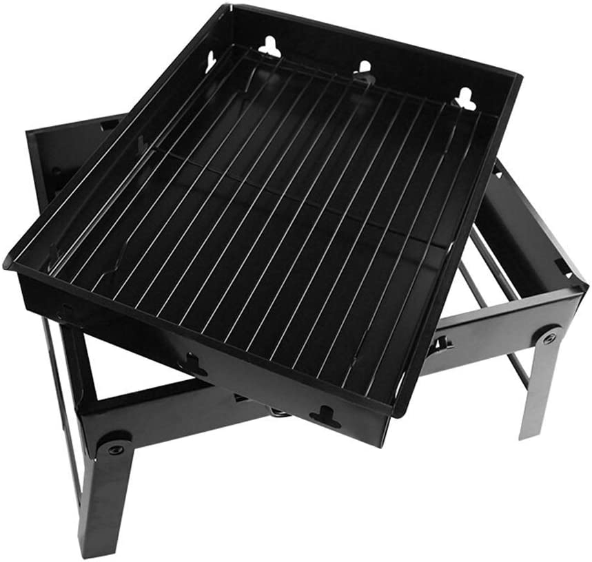 Barbecue Grill Barbecue,extérieur Ménage Barbecue Grill Étagère Charcoal Party Portable Pliant Barbecue Outdoor Pique-Nique Ustensiles @ (Couleur: A) B