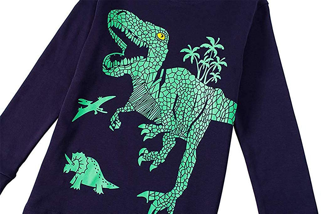 Conjuntos Bebe ASHOP Reci/én Nacido Beb/é Ni/ños Ni/ñas Oto/ño//Invierno Pijama Ropa Casual Camisetas de Manga Larga con Impresi/ón de Dinosaurio+Pantalones