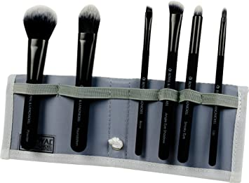 hot sales 39689 df5cb Amazon.com  Royal Brush Moda Total Face Cosmetic Brush Set and Case, Black   Beauty