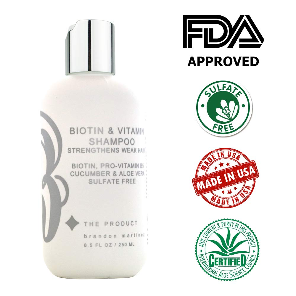 Biotin - Champú y acondicionador de vitamina para el crecimiento del  cabello  (alta potencia ca6eb827c085