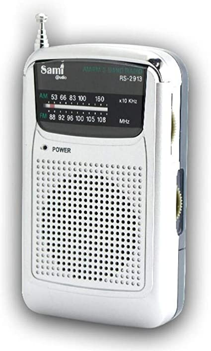 SAMI-RS2913 Radio analógica SAMI de Bolsillo de 2 Bandas FM/Am recepción Antena telescópica. Auriculares de Silicona incluidos.: Amazon.es: Electrónica