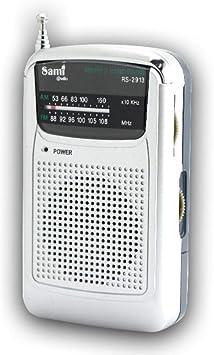 SAMI-RS2913 Radio analógica SAMI de Bolsillo de 2 Bandas FM ...