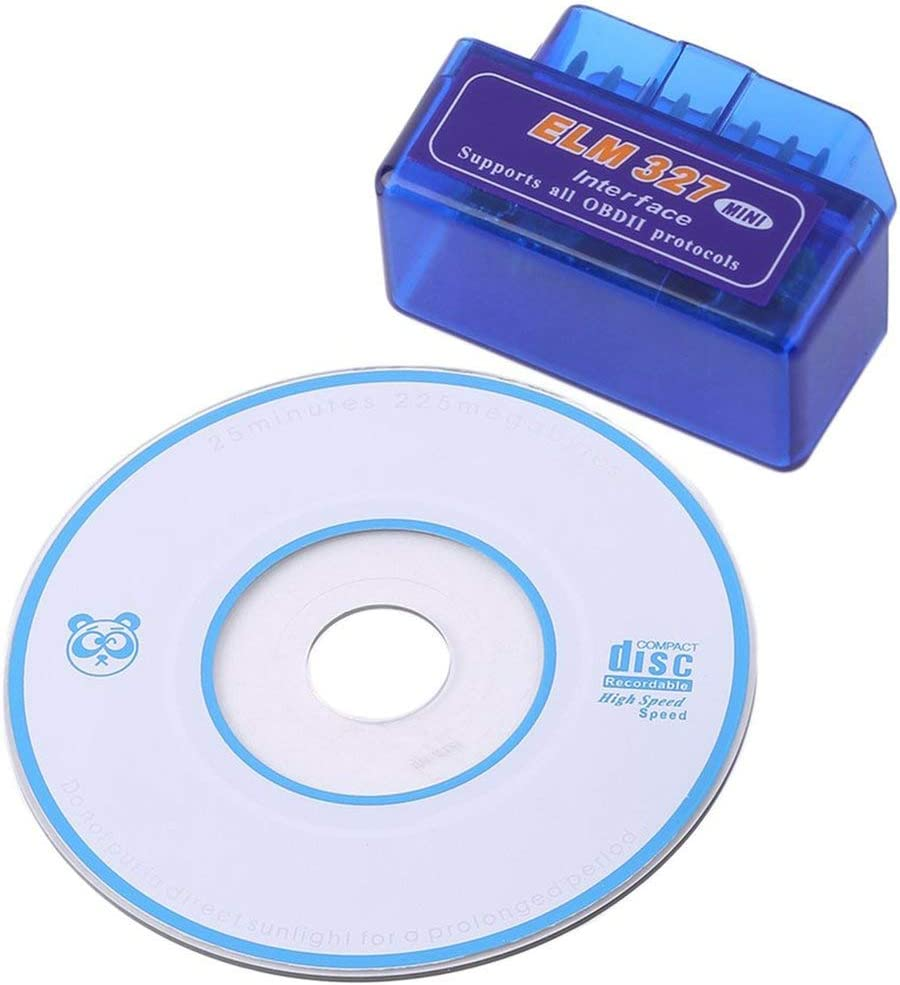couleur: bleu Outil de diagnostic bleu de la meilleure qualit/é dABS de scanner portatif de voiture dinterface de voiture de Bluetooth de mini ELM327 V2.1 OBD2 II