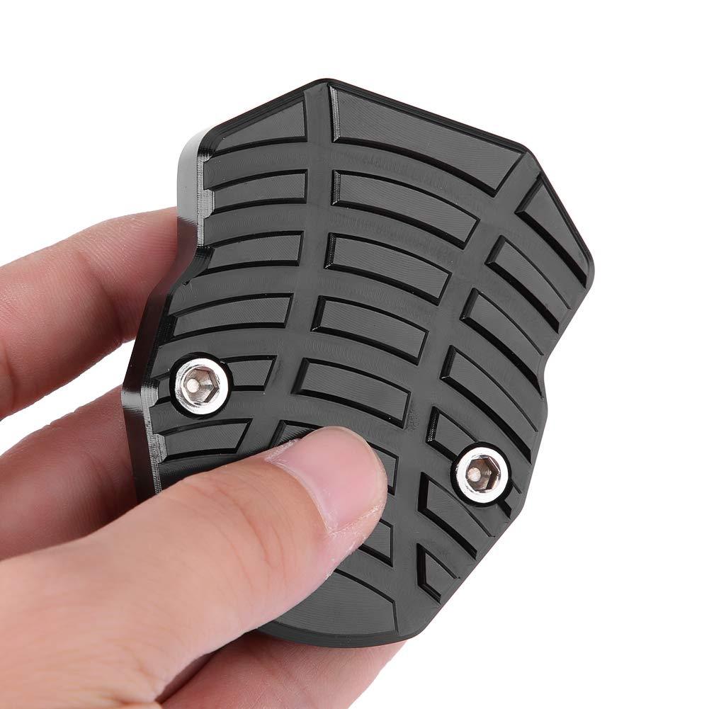Nero Tappo cavalletto moto modifica moto Lega in alluminio CNC Piedino regolabile Piedino antiscivolo Supporto piastra di estensione per Yamaha Nmax155 XMAX 300 Nero